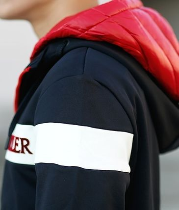 MONCLER パーカー・フーディ 【MONCLER】18AW異素材MIXダブルフードジップアップパーカー/EMS(17)