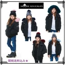 MOOSE KNUCKLES(ムースナックル) キッズアウター 18-19AW【MOOSE KNUCKLES】GIRLS BOMBER/COLOURFUL FUR★関送込