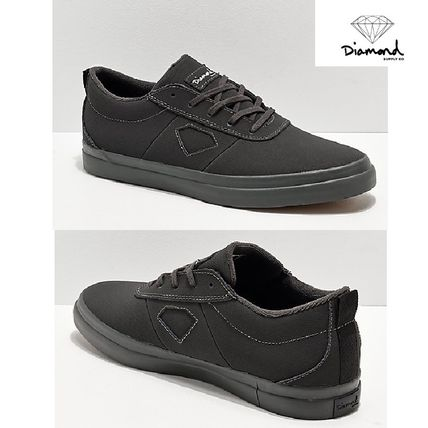 ★日本未入荷Diamond Supply Co★Nubuckブラック Skate Shoes