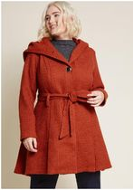 once upon a thyme hooded coat in rust