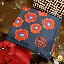 2018AW♪ Tory Burch ★ POPPY SLIK SQUARE SCARF