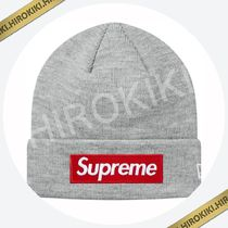 18AW /Supreme New Era Box Logo Beanie ボックス ロゴ Grey 灰