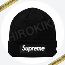 18AW /Supreme New Era Box Logo Beanie ボックス ロゴ Black 黒