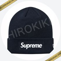 18AW /Supreme New Era Box Logo Beanie ボックス ロゴ Navy 紺