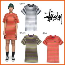 最新作!!18-19AW!!☆STUSSY☆MURRAY STRIPED T-SHIRT DRESS