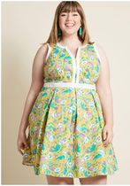 your own approach fit and flare dress in mermaids