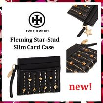 新作 セール Tory Burch Fleming Star-Stud Slim Card Case