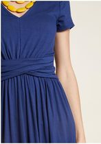a pleasure indeed knit dress in navy