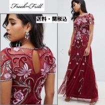 frock & frill(フロックアンドフリル) ワンピース Frock And Frill embellished マキシドレス in berry