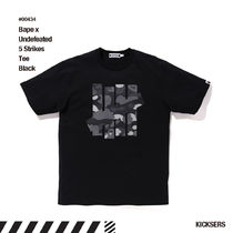 人気話題コラボ!Bape x Undefeated 5 Strikes Tee Black