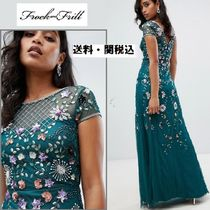 frock & frill(フロックアンドフリル) ワンピース Frock And Frill フローラルembellishedマキシドレス
