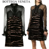 【18AW】★Bottega Veneta★sheer sequined dress