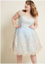 chi chi london exquisite elegance lace dress in sky