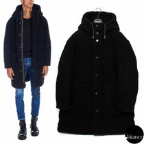 関税込DSQUARED2 2018AW Faux Shearling Hooded Coat エコファー