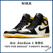 "【Nike】人気 激レア Air Jordan 1 NRG ""Not For Resale"" Yellow"