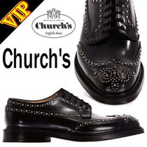 ◆◆VIP◆◆ Church's Grafton met black メタルスタッズ 防水