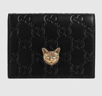 GUCCI Gucci Signature card case with cat 548057 0G6FT 1081