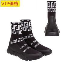 VIP価格!FENDI HIGH-TOP SNEAKERS WITH LOGO