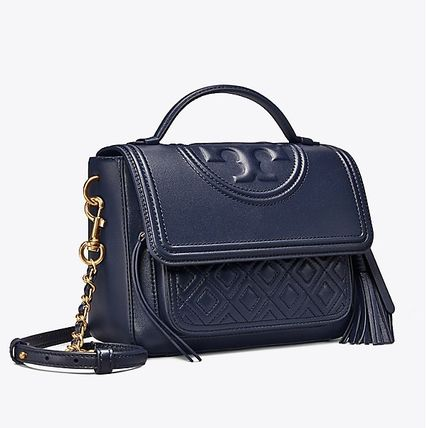 Tory Burch ショルダーバッグ・ポシェット 【 Tory Burch 】 FLEMING SATCHEL ROYAL NAVY(2)
