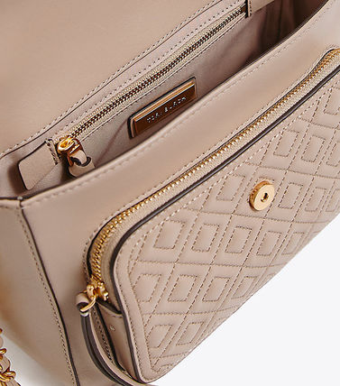 85c92710f3bb ... Tory Burch ショルダーバッグ・ポシェット   Tory Burch   FLEMING SATCHEL LIGHT TAUPE(4  ...