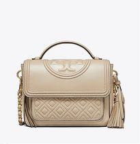 【 Tory Burch 】 FLEMING SATCHEL LIGHT TAUPE