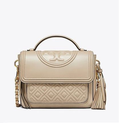 38abffe8fa7e Tory Burch ショルダーバッグ・ポシェット   Tory Burch   FLEMING SATCHEL LIGHT TAUPE ...