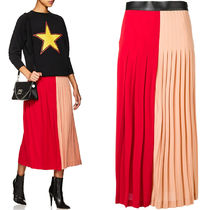 18-19AW G357 BI-COLOR STRETCH CREPE PLEATED SKIRT