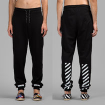 即発送 OFF WHITE 15SS DIAG BASIC LONG SWEAT TRACK PANTS