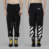 即発送 OFF WHITE 17FW DIAG GALAXY BRUSHED SWEAT PANTS