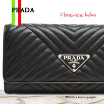 関税込み国内発送 PRADA Pass Case付 Diagramme Leather Wallet
