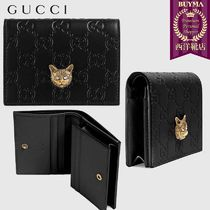 【正規品保証】GUCCI★19春夏★SIGNATURE CARD CASE WITH CAT
