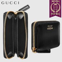 【正規品保証】GUCCI★19春夏★ZIP CARD CASE WITH GUCCI LOGO