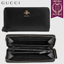 【正規品保証】GUCCI★19春夏★ANIMALIER ZIP AROUND WALLET