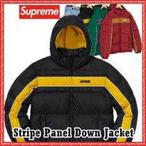 SUPREME シュプリーム Stripe Panel Down Jacket AW 18 WEEK 13