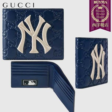 73a358eee9c4 BUYMA|【正規品保証】GUCCI☆19春夏☆WALLET WITH NY YANKEES PATCH ...