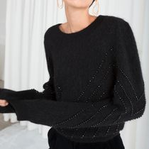 & Other Stories - Beaded Cropped Sweater