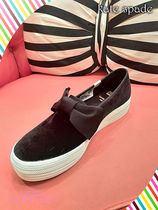 新作keds x kate spade triple decker velvet bow sneakers