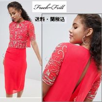 frock & frill(フロックアンドフリル) ワンピース Frock And Frill Tall 刺繍トップ2 In1ペンシルドレス