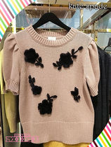 kate spade☆floral applique sweaterお花付きが可愛いセーター