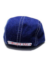 【Supreme】FITTED REAR PATCH CAMP CAP デニム【FW18H22】