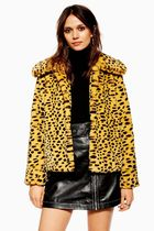 《レアなチーター柄♪》☆TOPSHOP☆Cheetah Print Faux Fur Coat