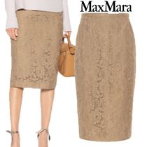 【18AW】Max Mara★Ragione lace pencil skirt