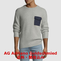 AG/ADRIANO GOLDSCHMIED(エージー/アドリアーノゴールドシュミット) ニット・セーター 【AG Adriano Goldschmied】Delta Woven-Pocket Sweater