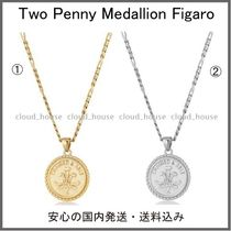 【Chained&Able】Two Penny Medallion Figaroネックレス(2色)