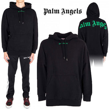 【18-19AW】新作 ! Palm Angels★Logo Print フーディー Black
