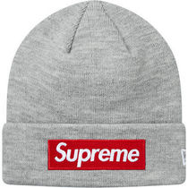 Supreme New Era Box Logo Beanie 18 AW  WEEK 12 HEATHER GREY
