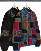 Week13!SUPREME18FW★Corduroy Patchwork Denim Jacket