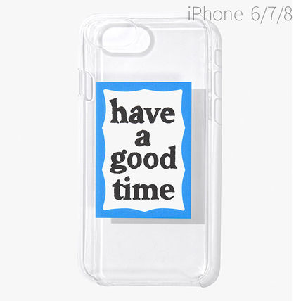 have a good time スマホケース・テックアクセサリー ★have a good time★ BLUE FRAME IPHONE CASE(5)