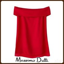 MassimoDutti♪TEXTURED WEAVE OFF-THE-SHOULDER TOP