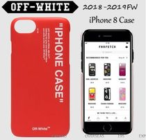 2018-2019FW★OFF-WHITE☆プリントロゴiPhone 8 ケース レッド